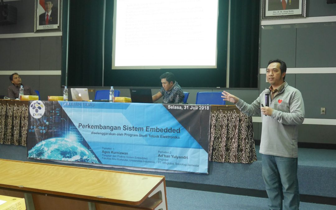 Upgrade Wawasan Mahasiswa dan Dosen, Prodi Teknik Elektronika Gelar Kuliah Tamu