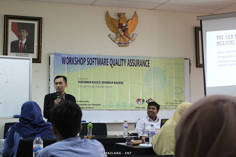 Program Studi Teknik Informatika Gelar Workshop Software Quality Assurance