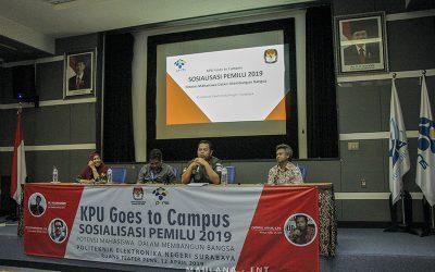 KPU Goes to Campus : Imbau Mahasiswa Gunakan Hak Pilih pada Pemilu 2019