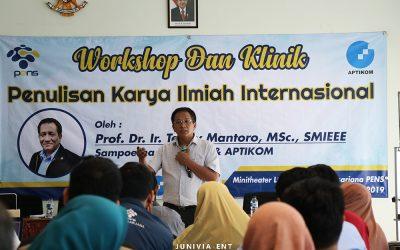 Tingkatkan Publikasi Internasional, PENS Helat Workshop dan Klinik Karya Ilmiah Internasional