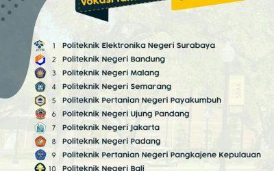 PENS Raih Peringkat 1 Perguruan Tinggi Vokasi Terbaik se-Indonesia Tahun 2019