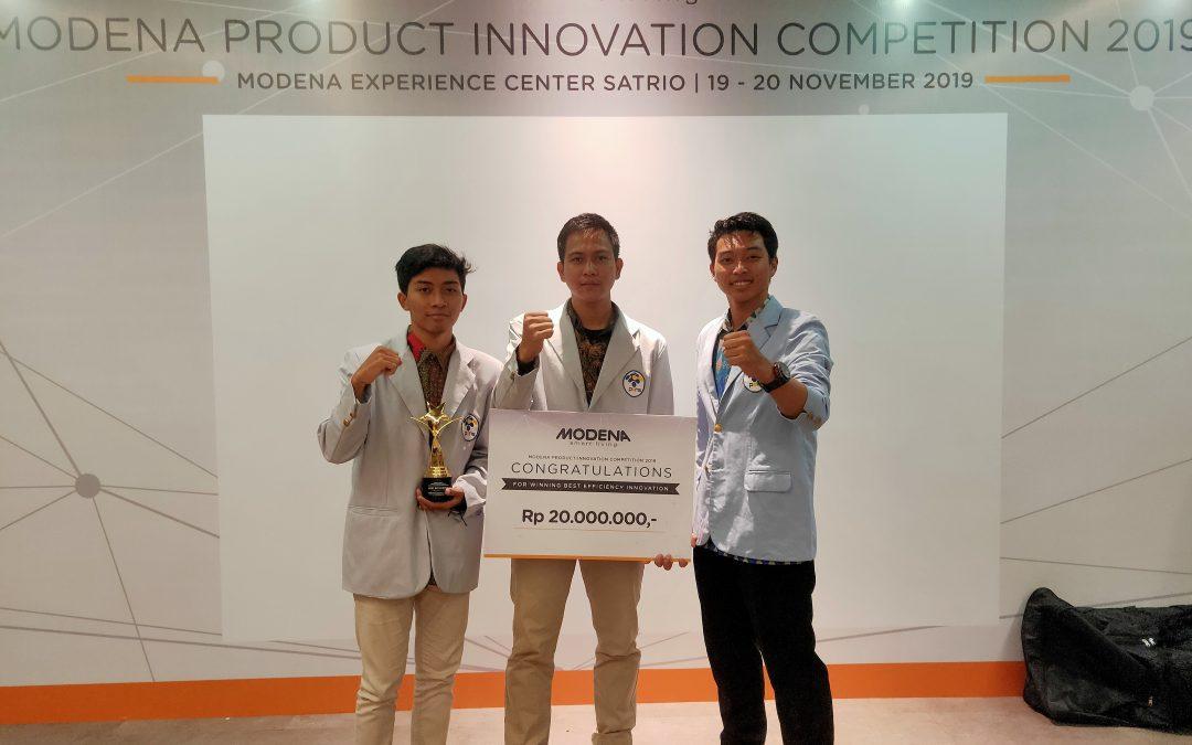 Berikan Inovasi Built-in Smart, Mahasiswa PENS Raih Juara 1 Modena Product Innovation Competition 2019