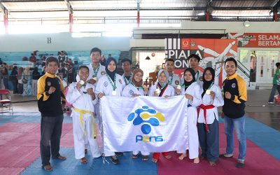 10 Mahasiswa PENS Sabet 10 Medali Piala Koni Surabaya Cabor Taekwondo