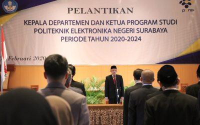 Direktur PENS Resmi Lantik Kadep dan Kaprodi Periode 2020-2024