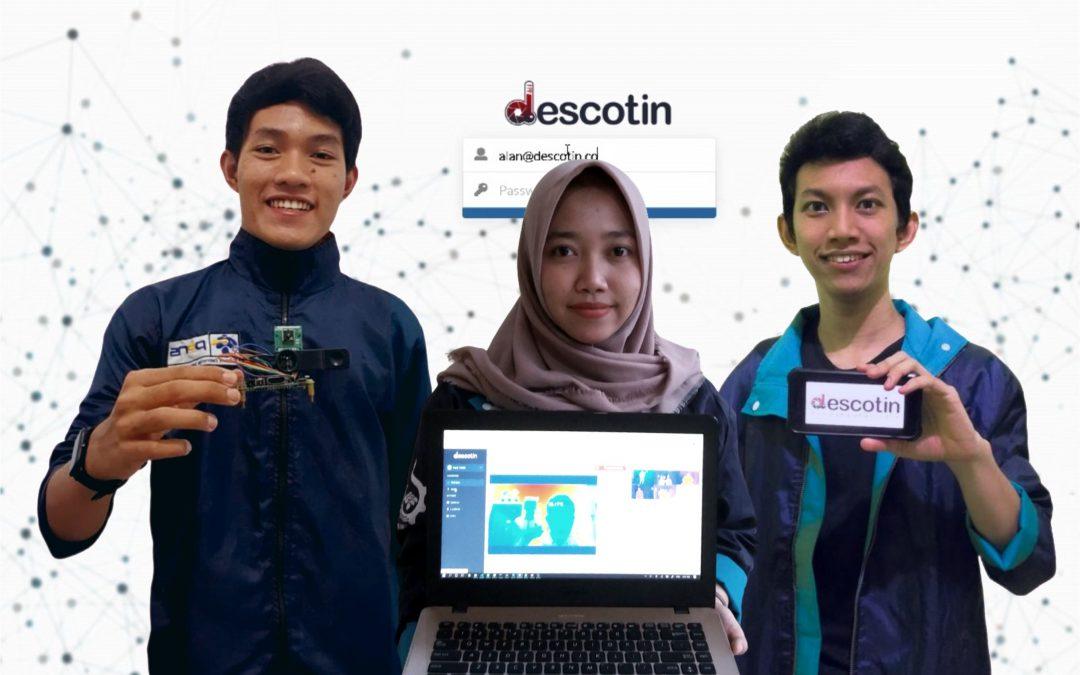 Jawab Tantangan Kurang Akuratnya Thermo Gun, Tiga Mahasiswa PENS Ciptakan Descotin yang Mampu Ukur Suhu Tubuh dengan Melintas di Depan Kamera
