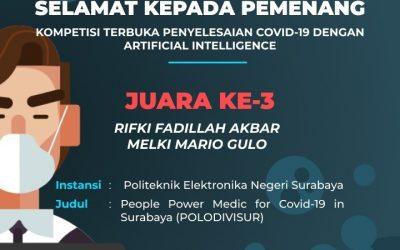 Tetap Produktif, Mahasiswa PENS Raih Juara 3 pada Kompetisi Terbuka Penyelesaian COVID-19 dengan AI