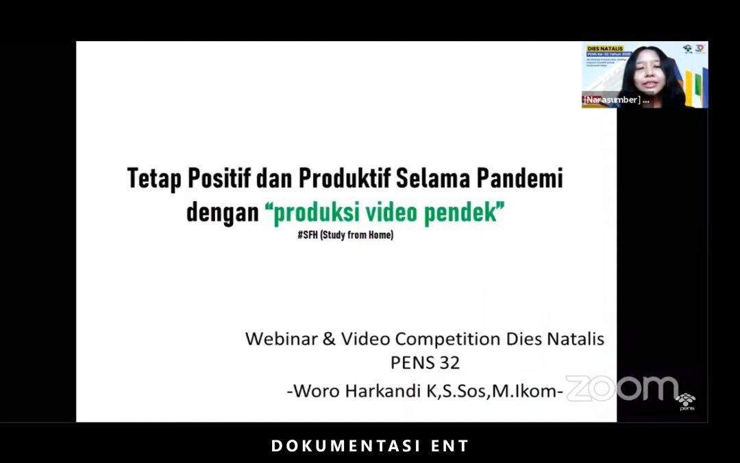 Dalam Rangka Memeriahkan Dies Natalis PENS ke-32, UKM Cinemascope Helat Webinar dan Video Competition