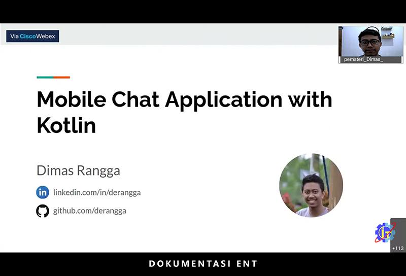 Bagikan Wawasan Tentang Mobile Chat App Development, HIMIT PENS Helat Webinar
