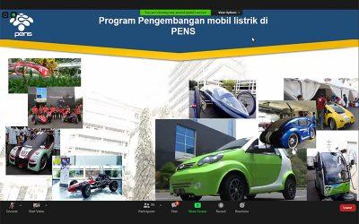 PENS Tunjukkan Eksistensinya Melalui Webinar Perkembangan Teknologi Mobil Listrik