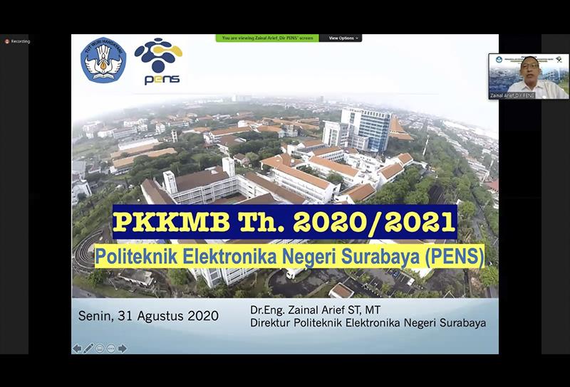 PKKMB 2020 : Kenalkan Kehidupan Kampus PENS kepada Mahasiswa Baru Secara Daring
