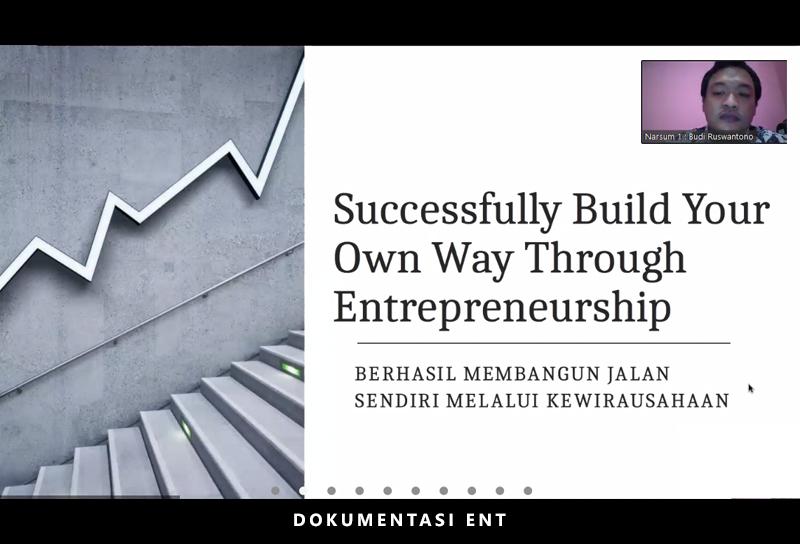 Hadirkan Founder CV Putra Mandiri dan Koordinator Kewirausahaan PENS, Prodi MMB Helat Webinar Kewirausahaan