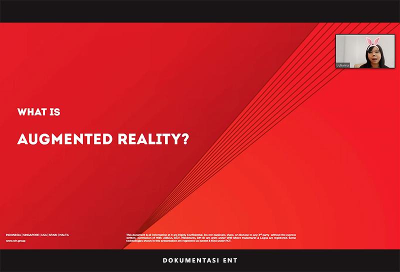 Helat Webinar Augmented Reality, Prodi Teknologi Game PENS Hadirkan General Manager AR&Co