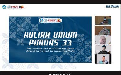 Empat Narasumber Dihadirkan pada Webinar Kuliah Umum PIMNAS ke-33
