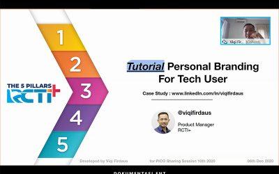 Optimalkan Personal Branding di Era Digital, PICO Helat Sharing Session ke-10