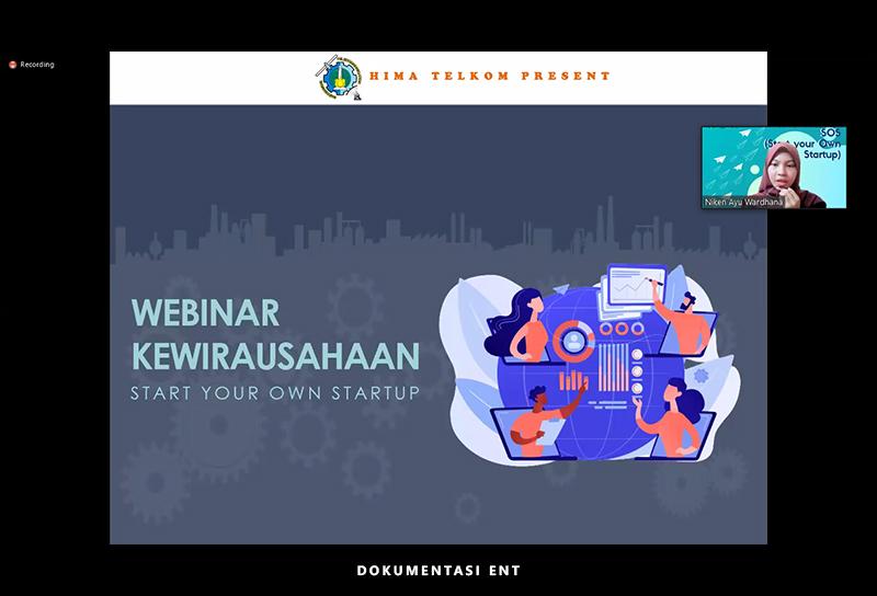 Hadirkan Head of Product IDN Media, Himpunan Mahasiswa Telekomunikasi Sukses Gelar Webinar Kewirausahaan