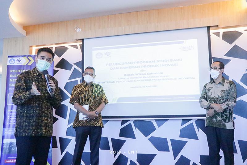 Dirjen Diksi Wikan Sakarinto Hadiri Peluncuran Dua Prodi Baru dan Pameran Produk Inovasi PENS