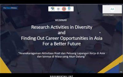 Siapkan Mahasiswa Hadapi Industri di Asia, PICO Helat Webinar Mengenai Riset dan Karir