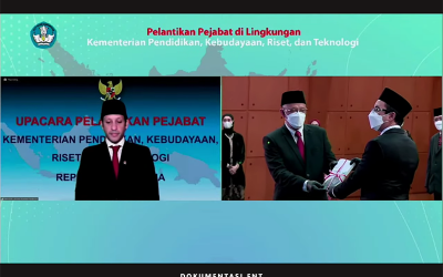Sah! Mendikbud-Ristek Nadiem Makarim Lantik Direktur PENS Periode 2021-2025