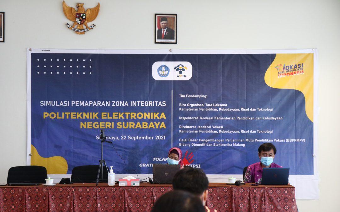 PENS Adakan Simulasi Pemaparan Zona Integritas Wilayah Bebas dari Korupsi (ZI-WBK)