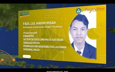 Fadl Lul Hakim Ihsan Mahasiswa PENS Peraih Juara Pertama pada Pilmapres Tahun 2021 Kategori Program Diploma
