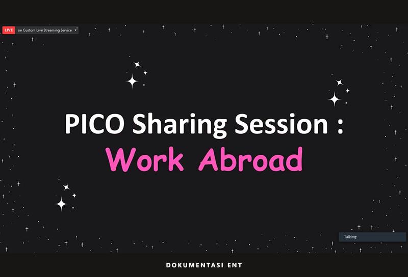 Bagikan Pengalaman Bekerja Narasumber Di Luar Negeri, Sharing Session PICO PENS Sukses Dihelat