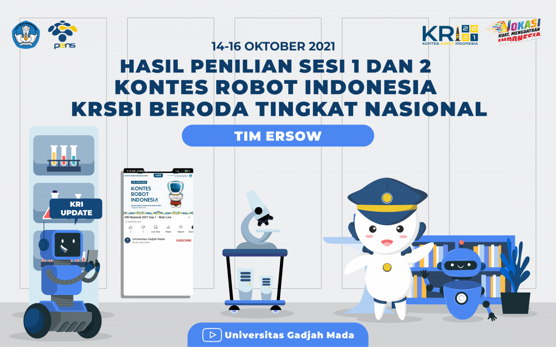 Drawing Hasil Penilaian Sesi 1 dan 2 Cabang Kontes Robot Sepak Bola Indonesia (KRSBI) Beroda dalam Kontes Robot Indonesia (KRI) Nasional 2021