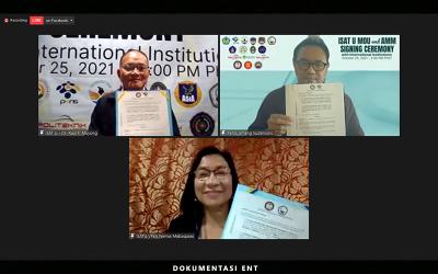Dorong Kerjasama Akademik, PENS Tandatangani Nota Kesepakatan dengan ISAT U