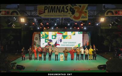 Upacara Pembukaan PIMNAS ke-34 Resmikan Persaingan 108 Kampus se-Indonesia