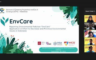 Guna Tingkatkan Kesadaran Lingkungan Masyarakat Melalui Kompetisi, Tim EnvCare Sukses Raih Silver Medal WICE 2021